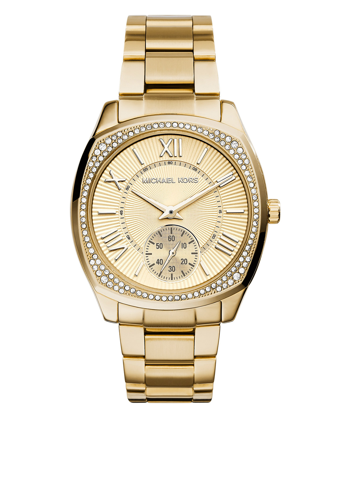 Michael Kors Womens Bryn Gold Tone Watch, Gold