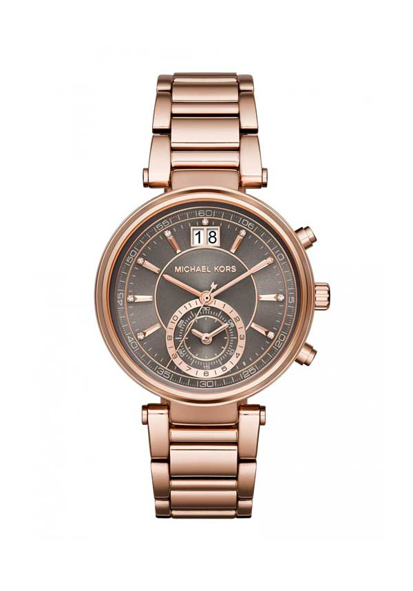 Michael Kors Ladies' Sawyer Stainless Steel Bracelet Watch, Rose Gold