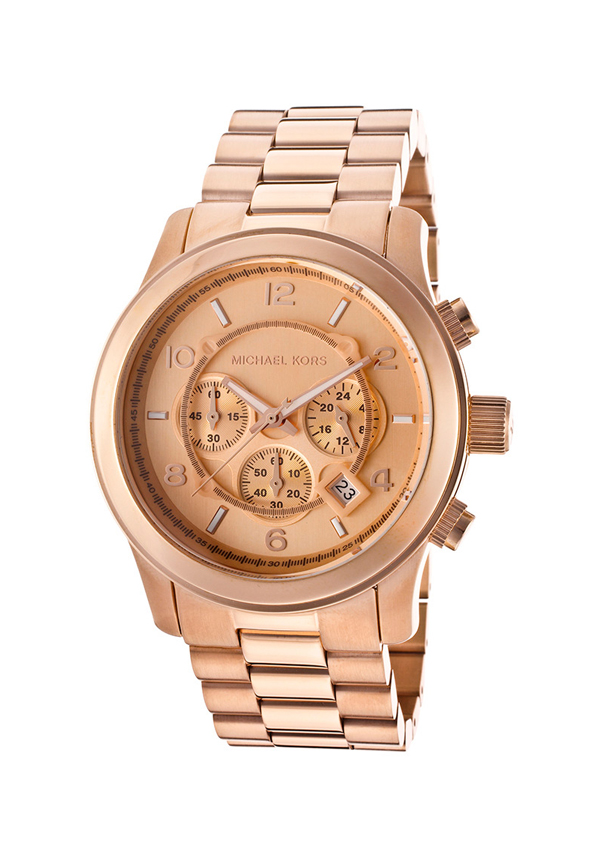 Michael Kors Men's Chronograph Rose Gold Oversize Runway Watch