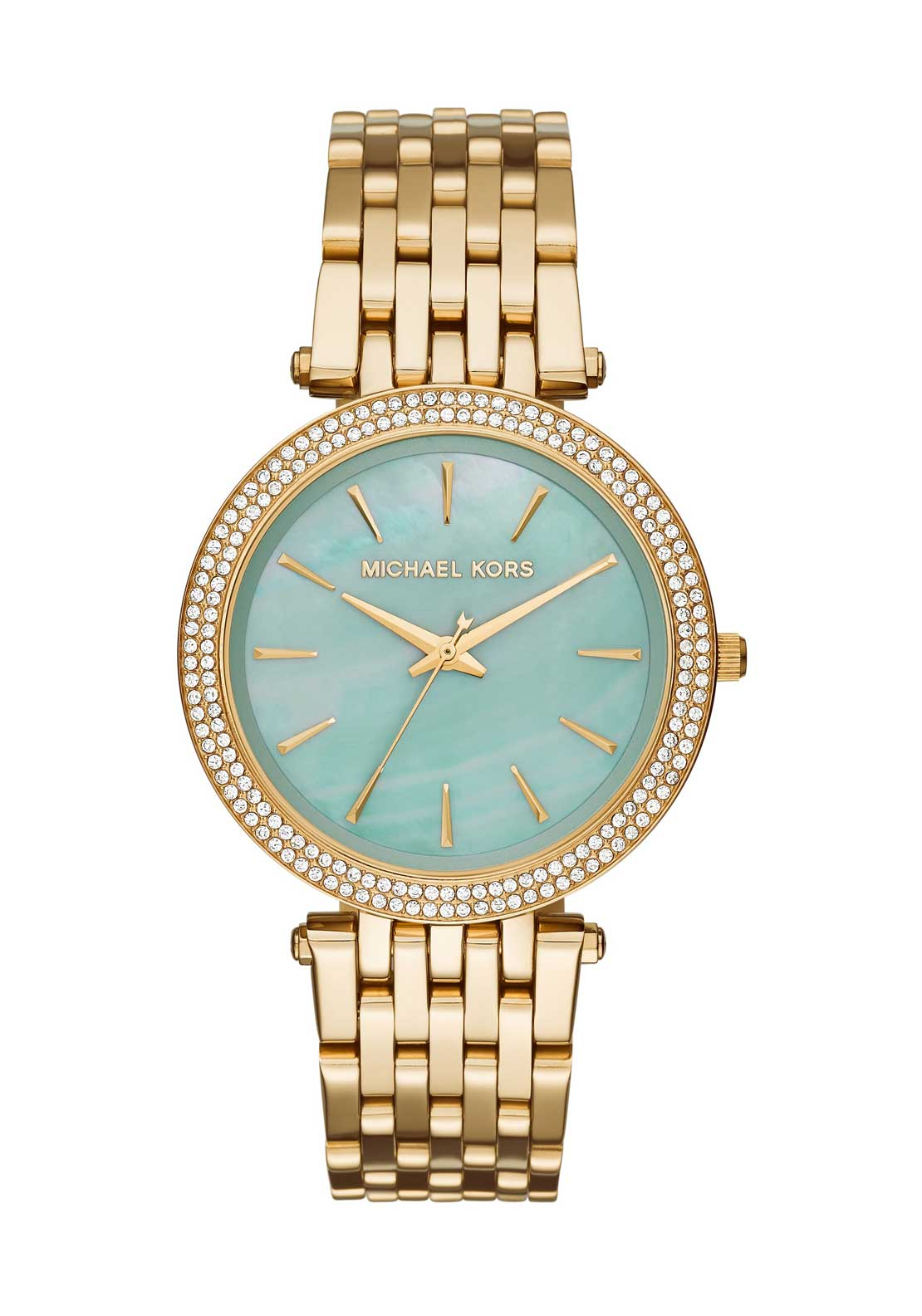 Michael Kors Womens Darci Diamante Embellished Watch, Gold