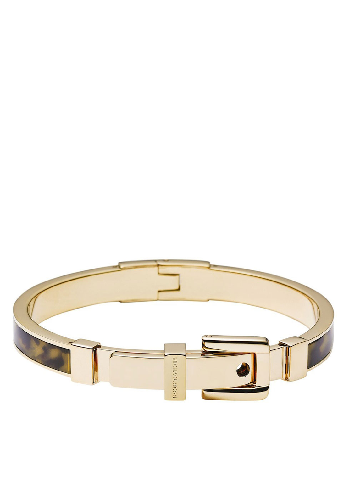Michael Kors Womens Bedford Buckle Bangle, Gold
