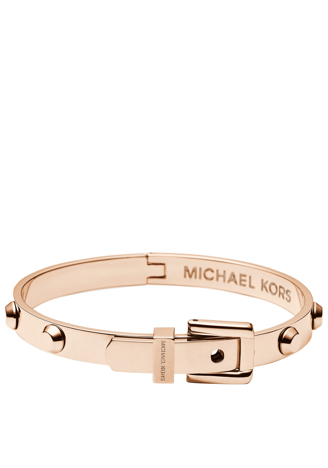 Michael Kors Womens Astor Stud Buckle Bangle, Rose Gold