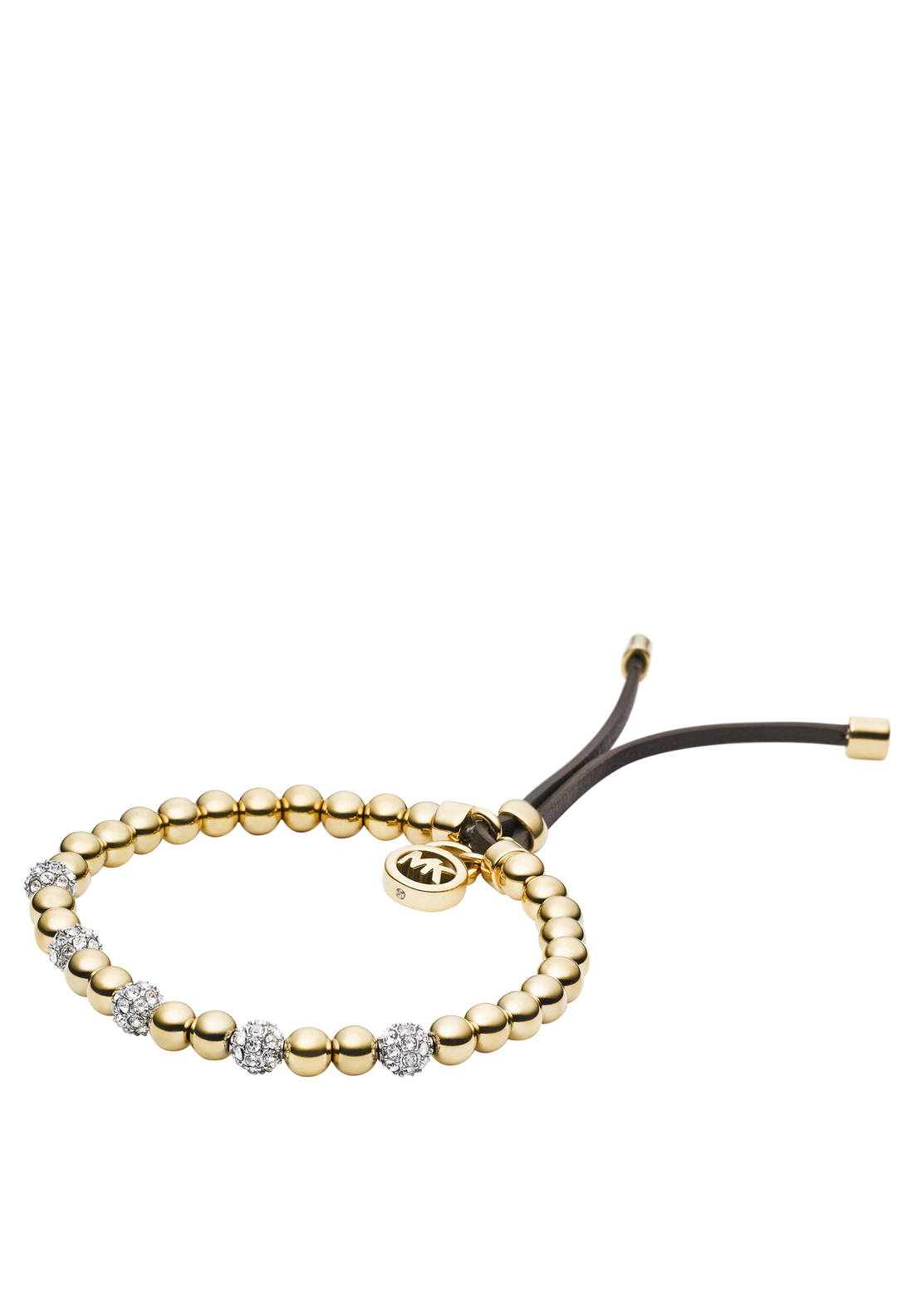 Michael Kors Womens Beaded Bracelet, Gold
