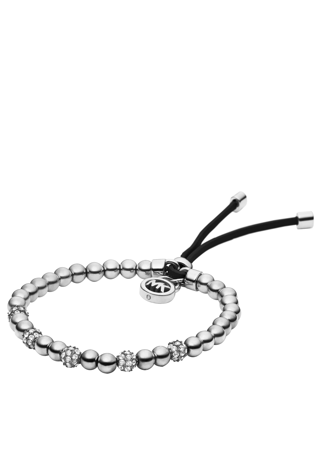 Michael Kors Womens Beaded Bracelet, Silver
