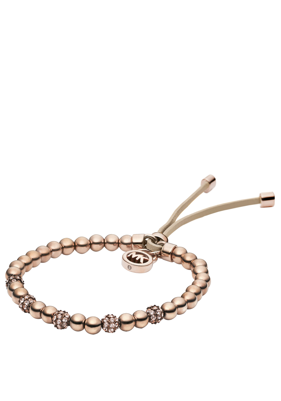 Michael Kors Womens Beaded Bracelet, Rose Gold