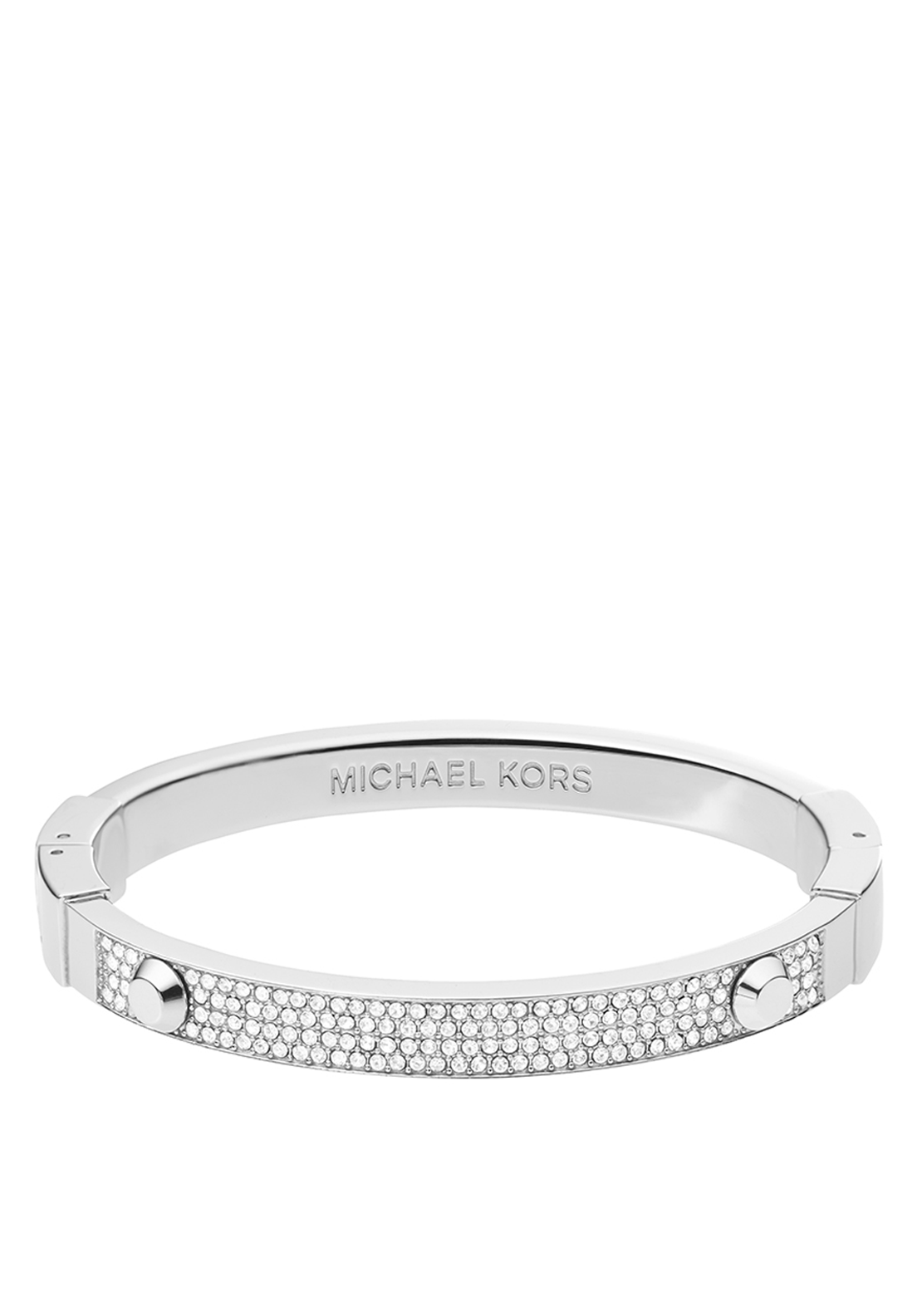 Michael Kors Womens Astor Crystal Bangle, Silver