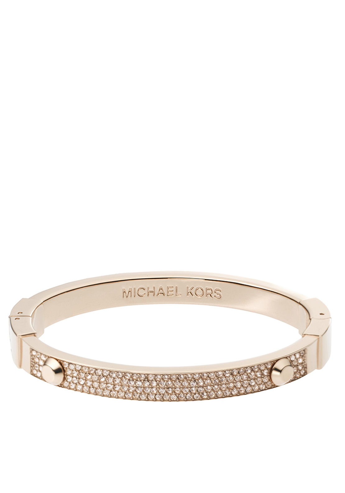 Michael Kors Womens Astor Crystal Bangle, Rose Gold