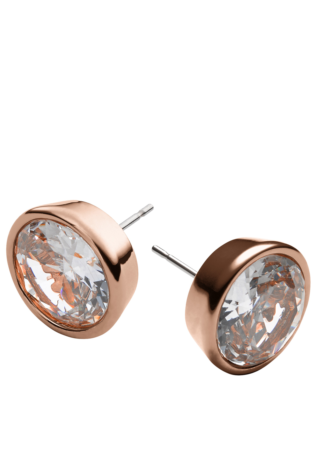 Michael Kors Womens Crystal Stud Earrings, Rose Gold
