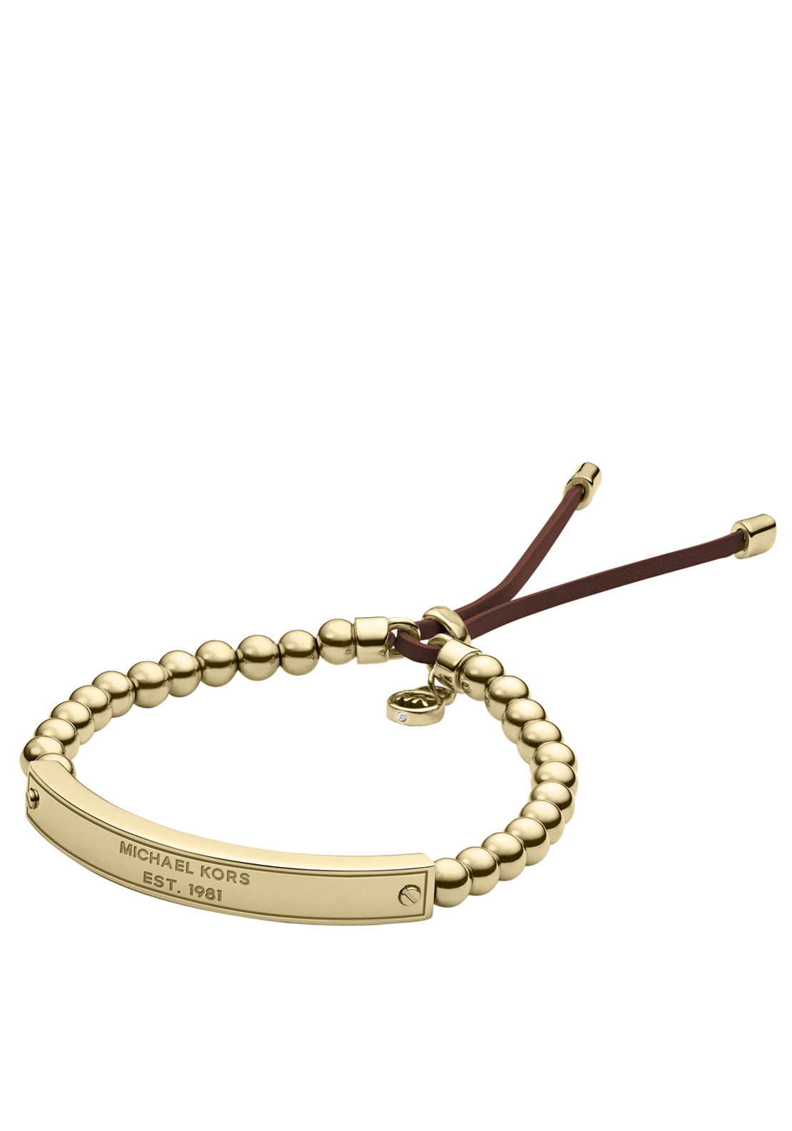 Michael Kors Womens Plaque Stretch Bracelet, Gold