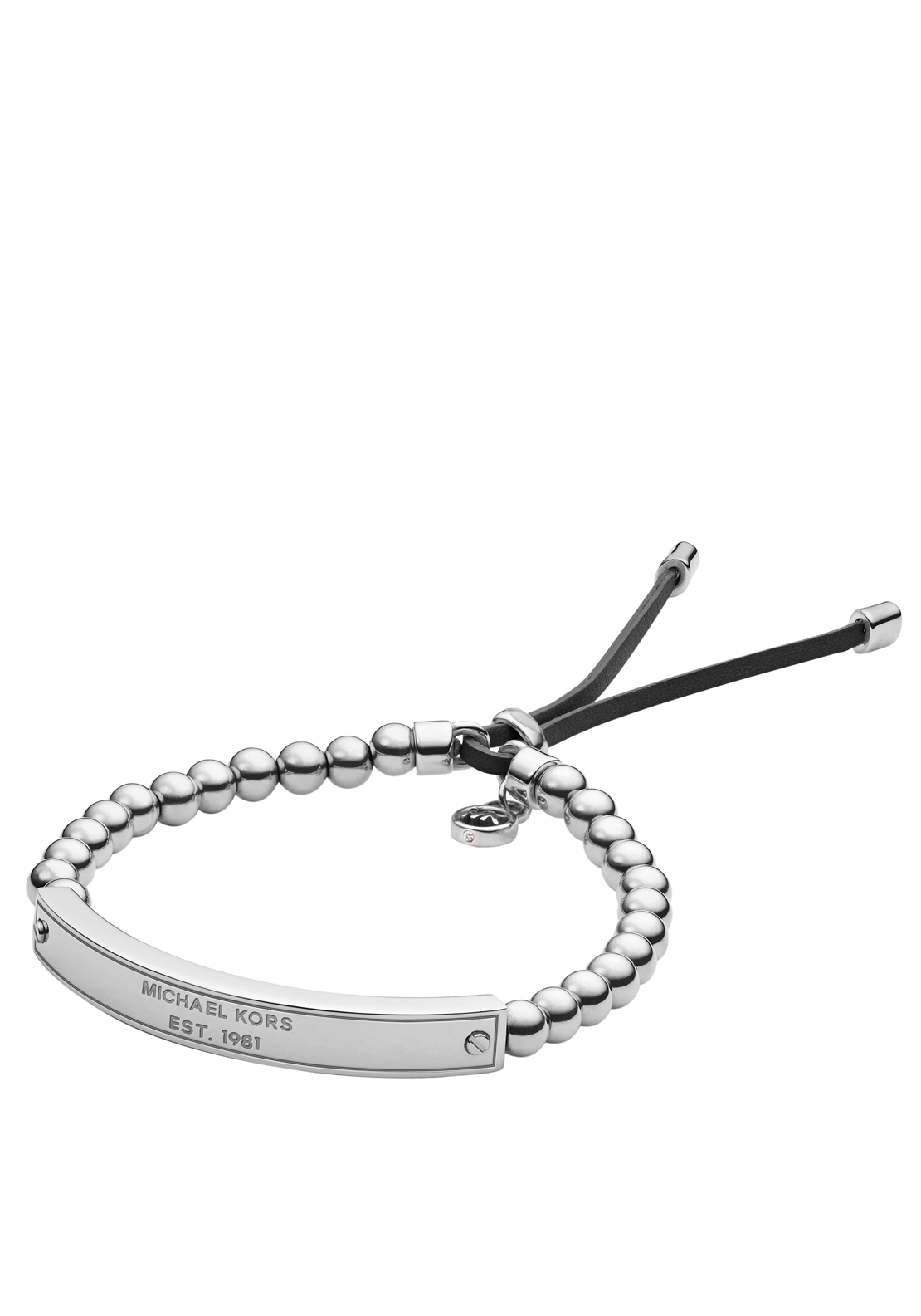Michael Kors Womens Plaque Stretch Bracelet, Silver