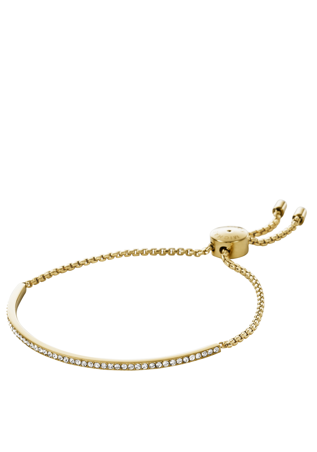 Michael Kors Womens Pave Slider Bracelet, Gold