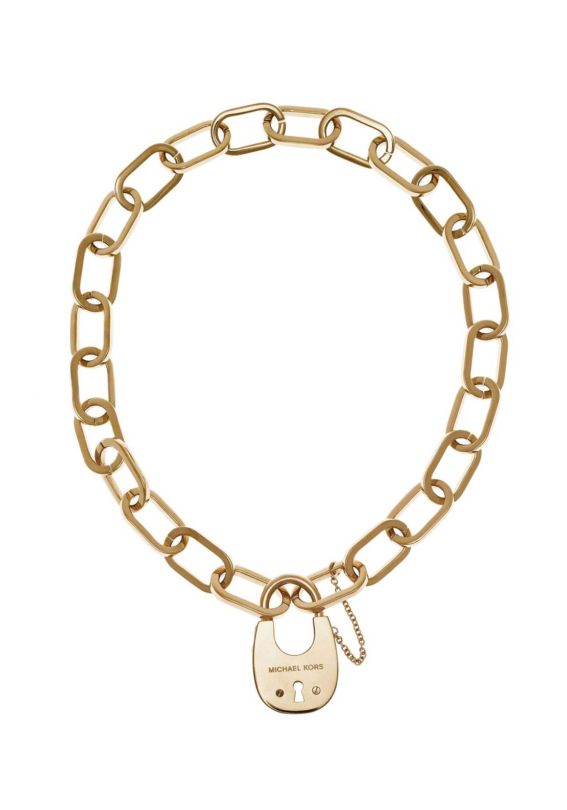 Michael Kors Heavy Padlock Necklace, Gold