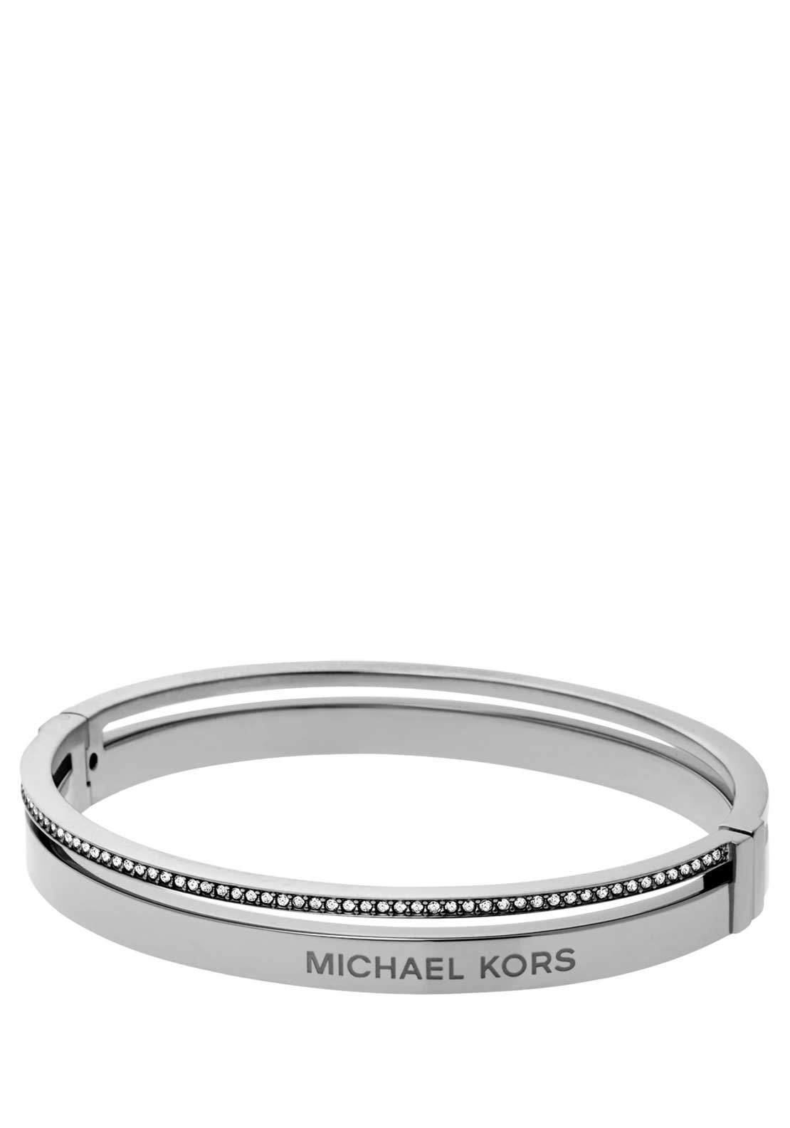 Michael Kors Ladies Brilliance Crystal set Bangle, Silver