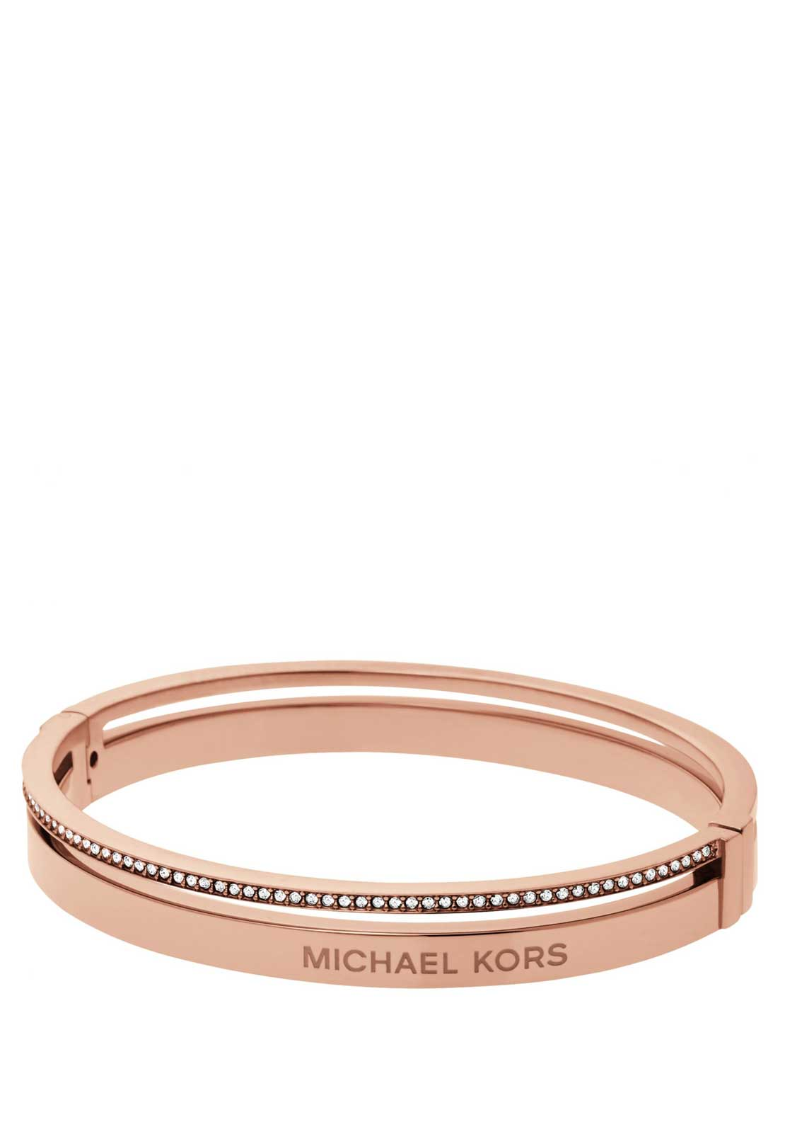 Michael Kors Ladies Brilliance Crystal set Bangle, Rose Gold