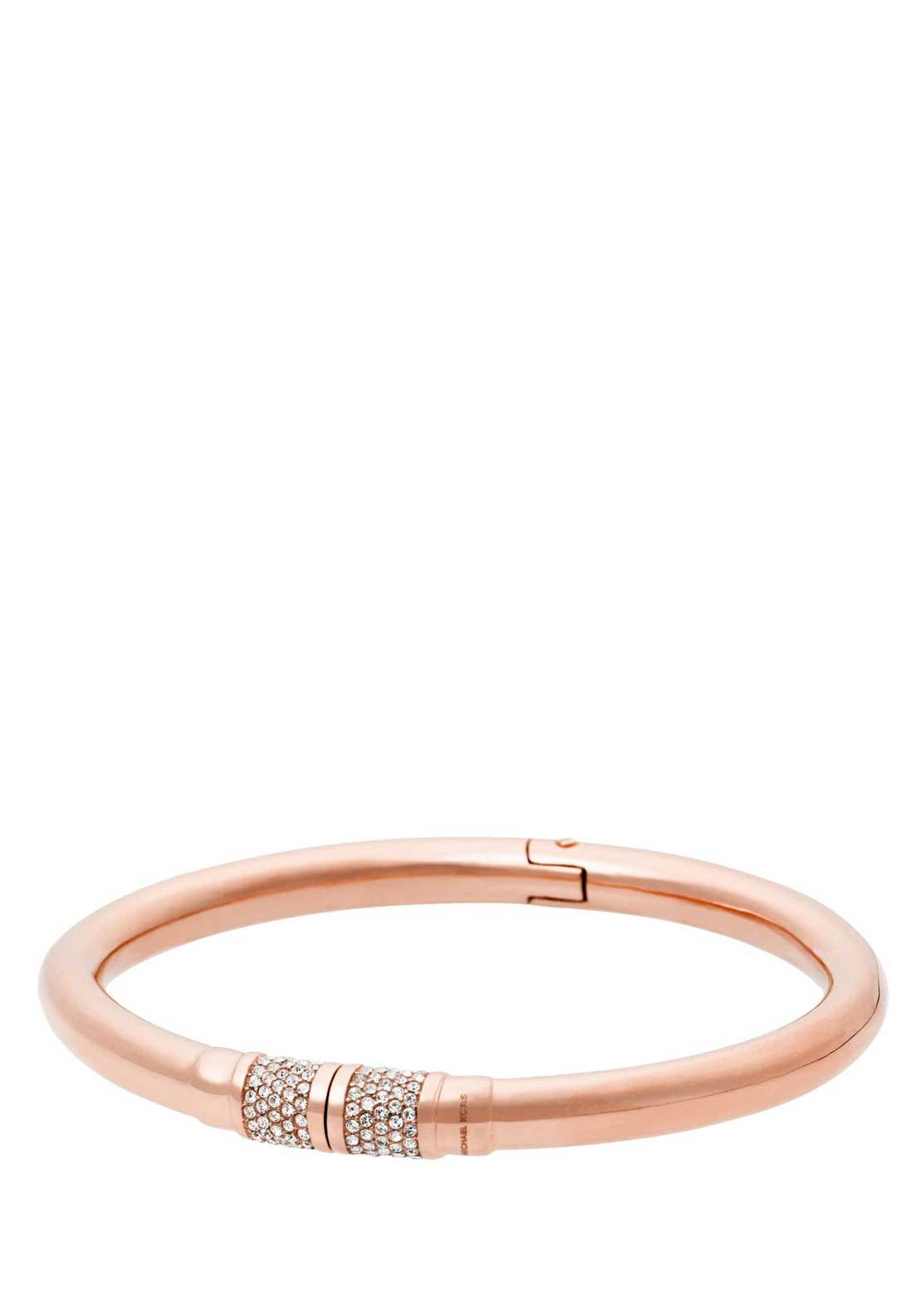 Michael Kors Ladies Park Avenue Hinged Bangle, Rose Gold