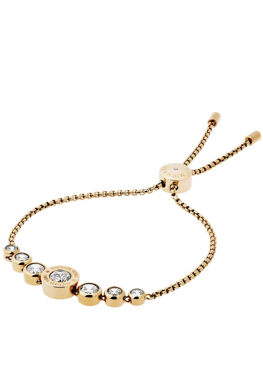 Michael Kors Cubic Zirconia Slider Toggle Bracelet, Gold
