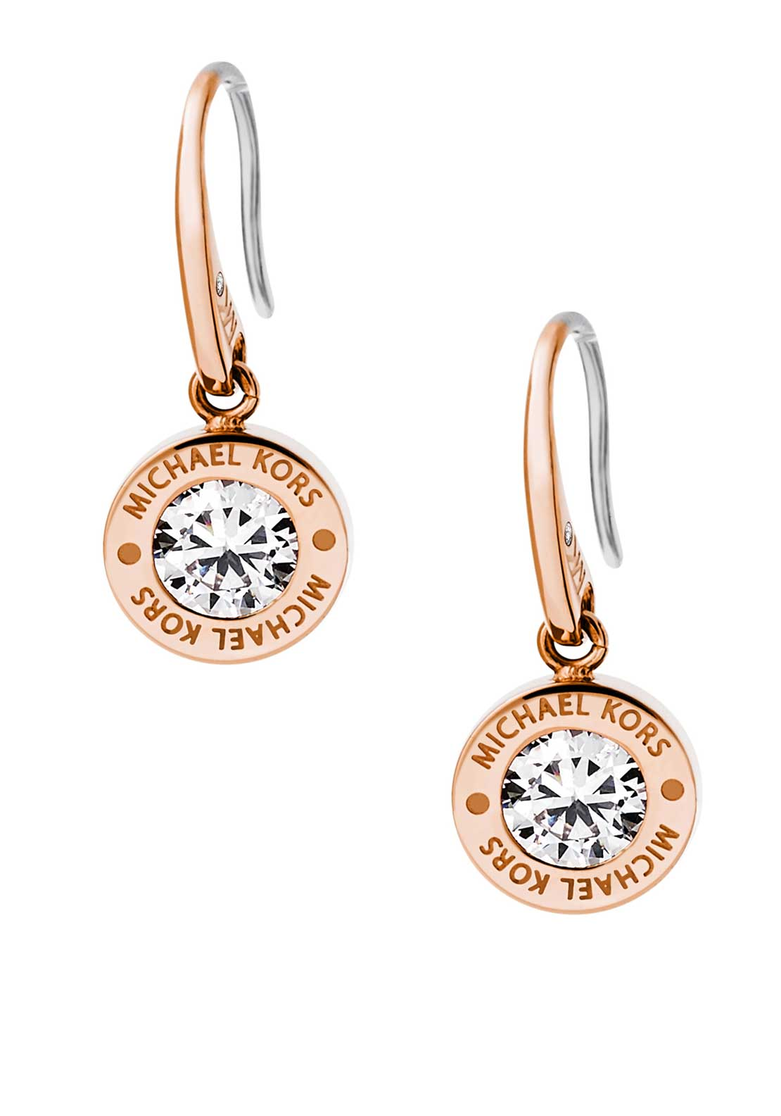 Michael Kors Womens Brilliance Diamante Drop Earrings, Rose Gold