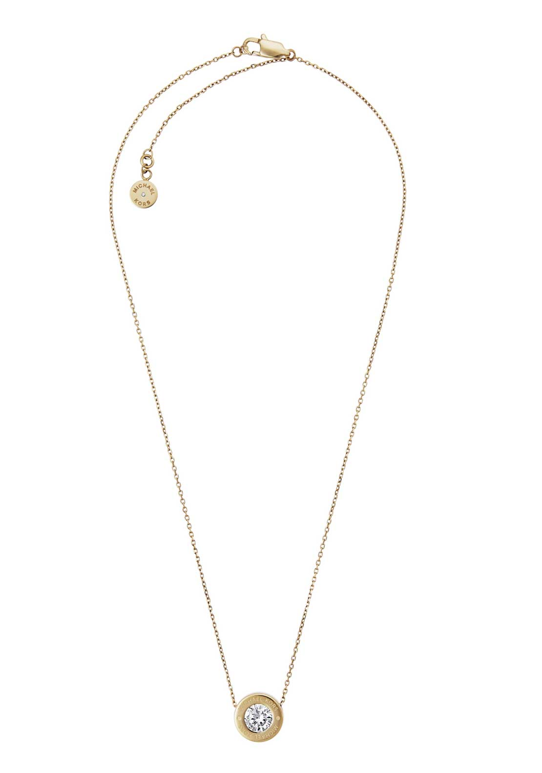 Michael Kors Womens Brilliance Diamante Stud Necklace, Gold