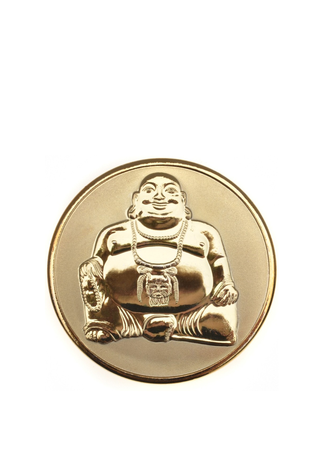 Mi Moneda Buddha Gold Plated Coin Small