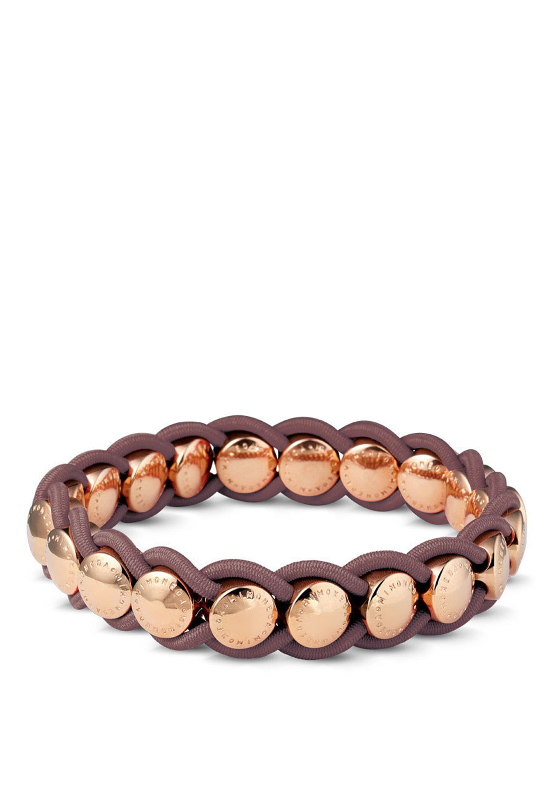 Mi Moneda Valencia Bracelet, Rose Gold and Taupe