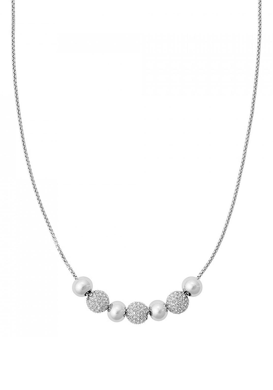 Michael Kors Brilliance Bead Necklace, Silver
