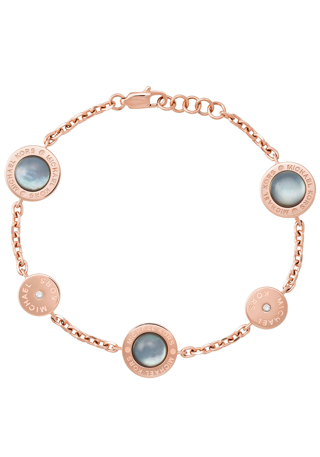 Michael Kors Logo Stone Set Bracelet, Rose Gold