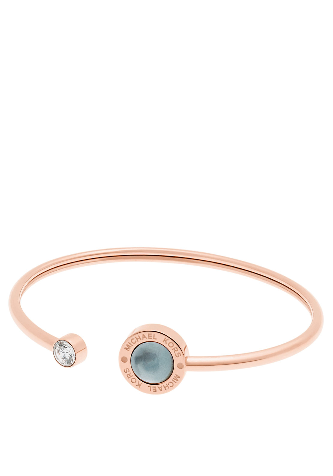 Michael Kors Logo Stone Set Bangle, Rose Gold