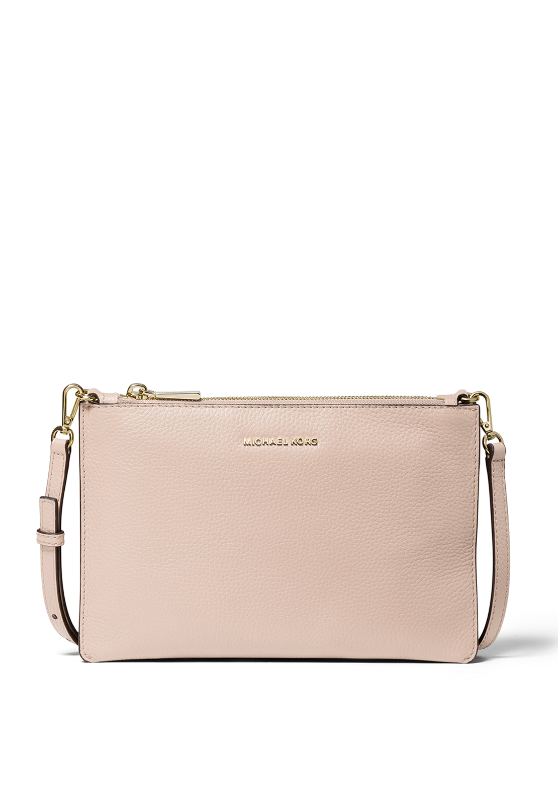 545f8a6cfd93 MICHAEL Michael Kors Double Pouch Leather Crossbody Bag, Soft Pink ...