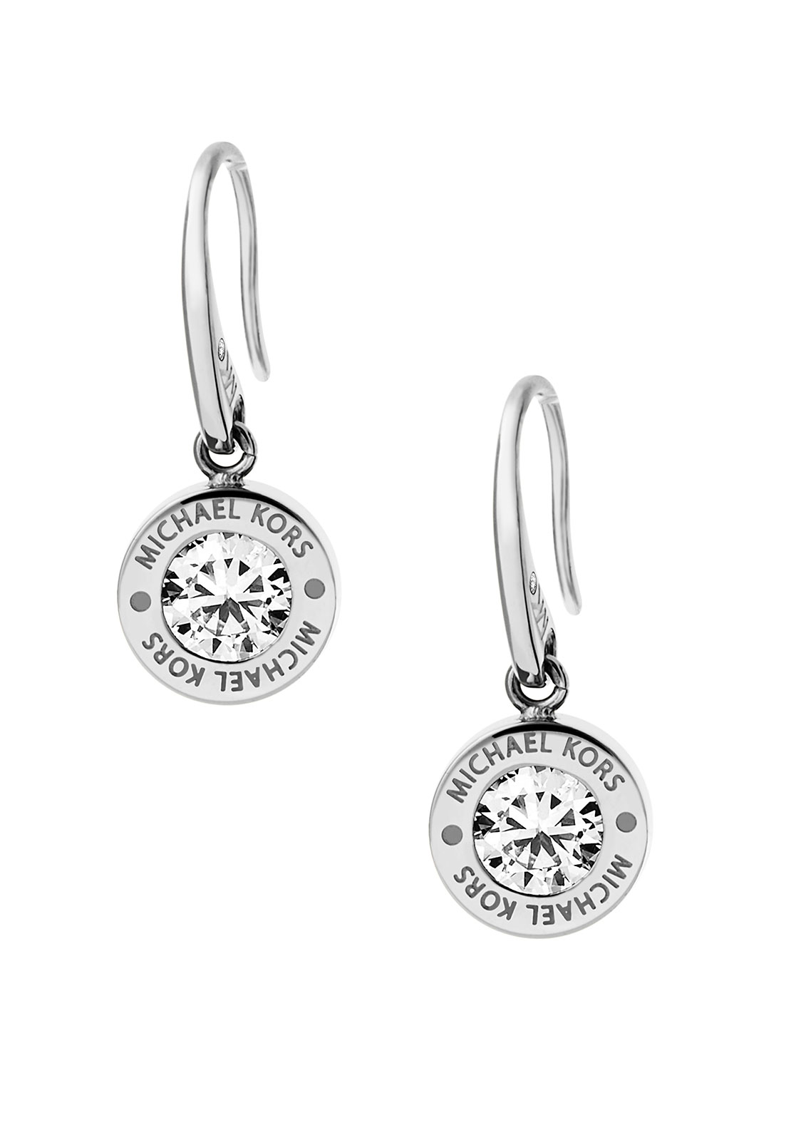 Michael Kors Brilliance Crystal Set Drop Earring, Silver