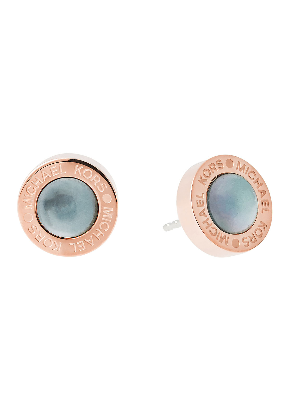 Michael Kors Logo Stone Stud Earrings, Rose Gold