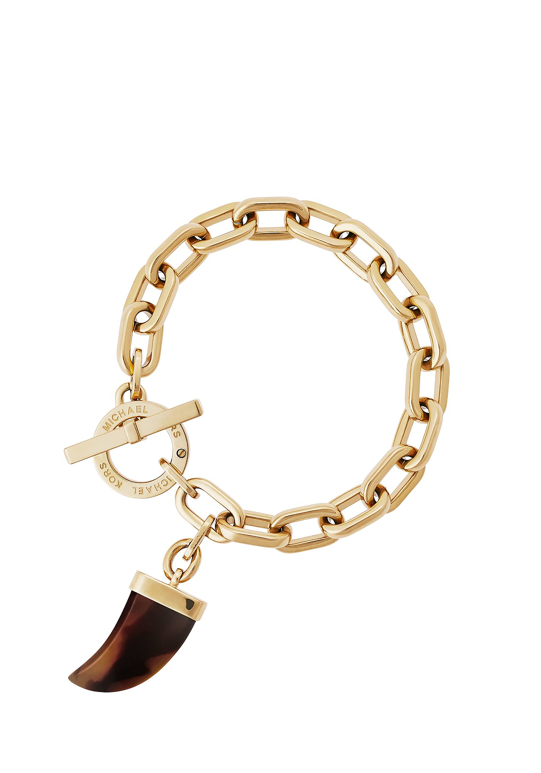 Michael Kors Link Toggle Horn Bracelet, Gold