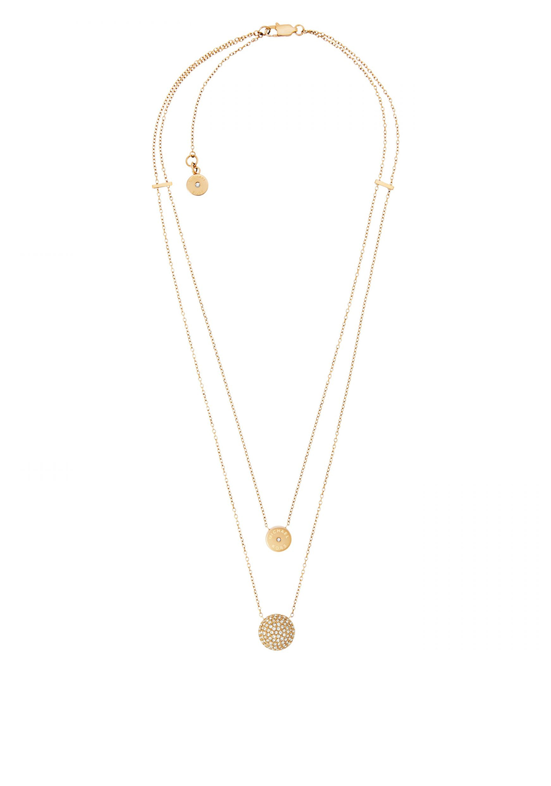 Michael Kors Two Layer Pendant Necklace, Gold