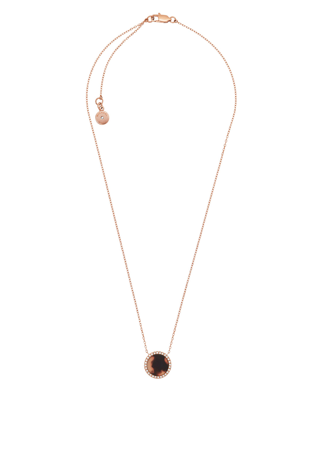 Michael Kors Tortoise Acetate Necklace, Rose Gold