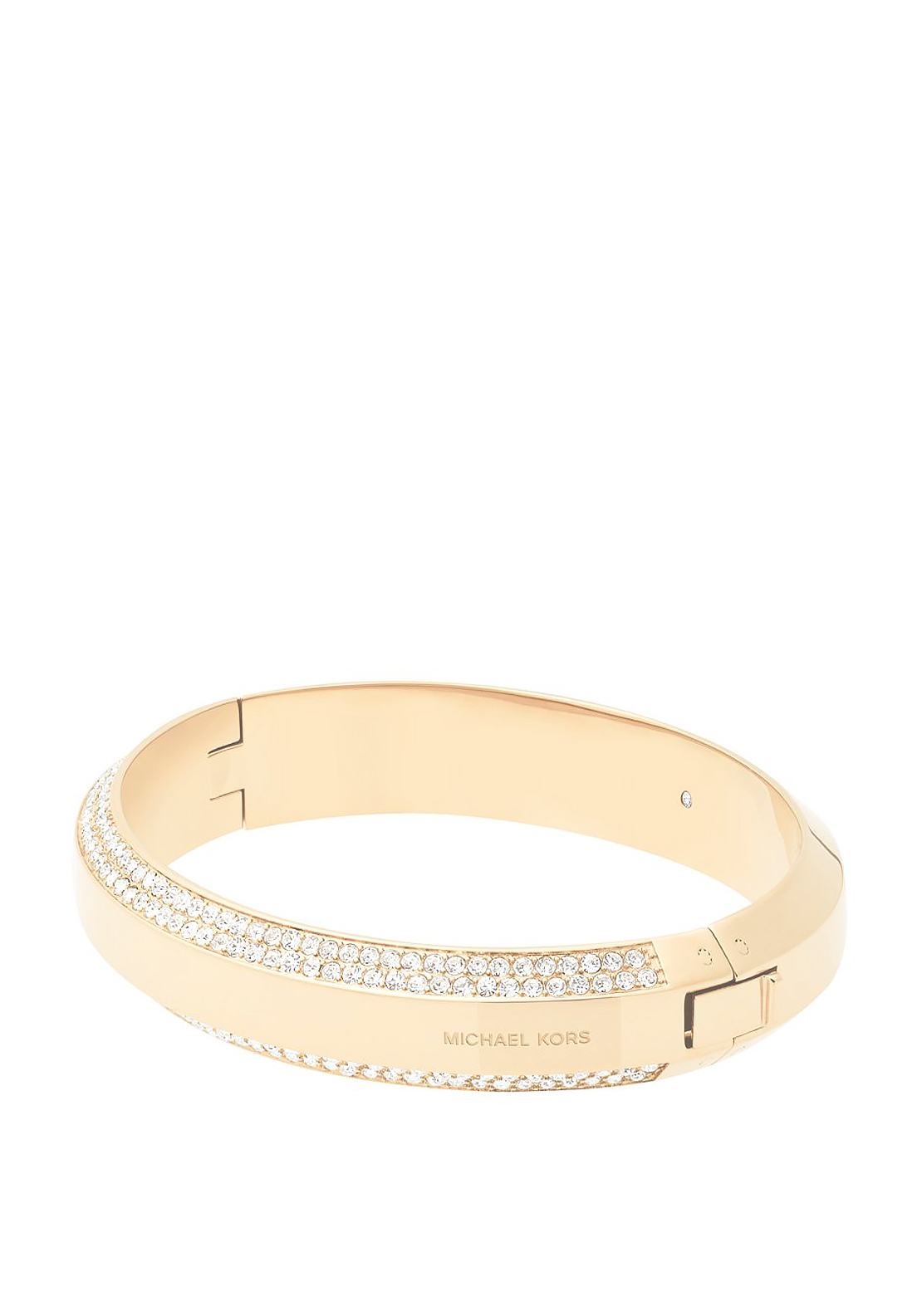 Michael Kors Pave Stone Hinge Bangle, Gold