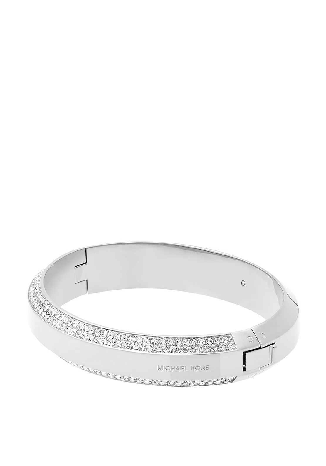 Michael Kors Pave Stone Hinge Bangle, Silver