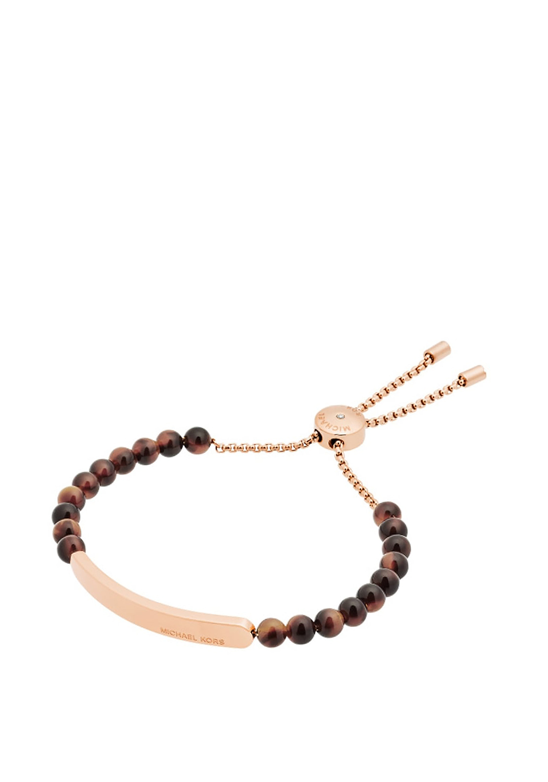 Michael Kors Tortoise Acetate Beaded Toggle Bracelet, Rose Gold