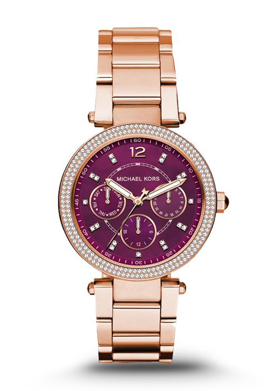 Michael Kors Parker Ladies Watch, Rose Gold