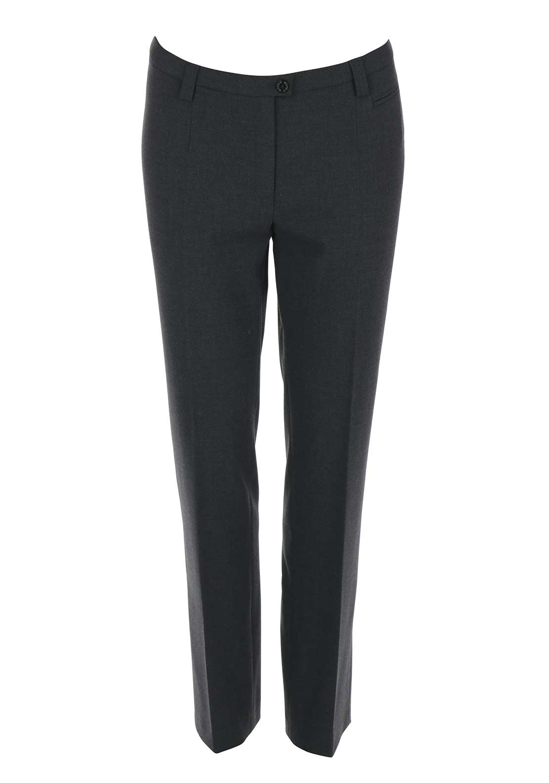 Michele Slim Leg Regular Length Trousers, Dark Grey