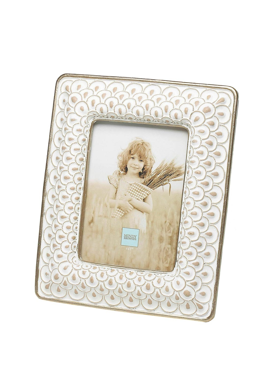 Mindy Brownes Sara Photo Frame 5 x 7, Cream