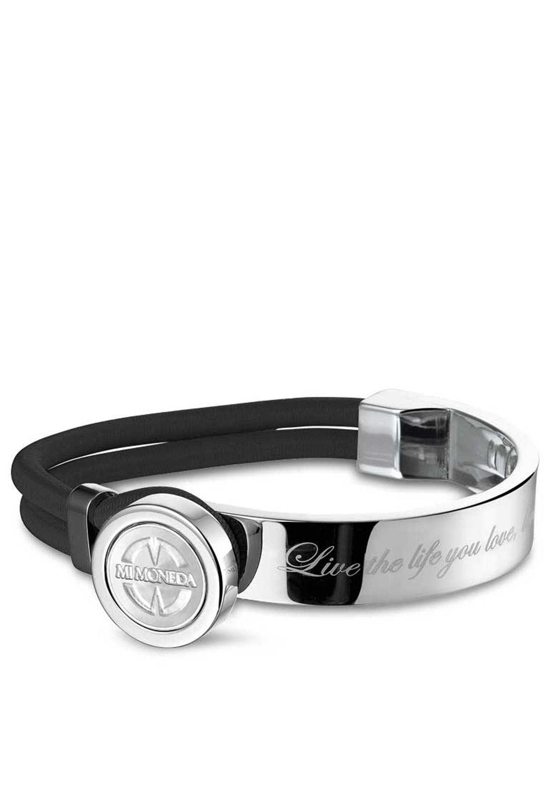 Mi Moneda Stainless Steel Verano Bracelet, Black