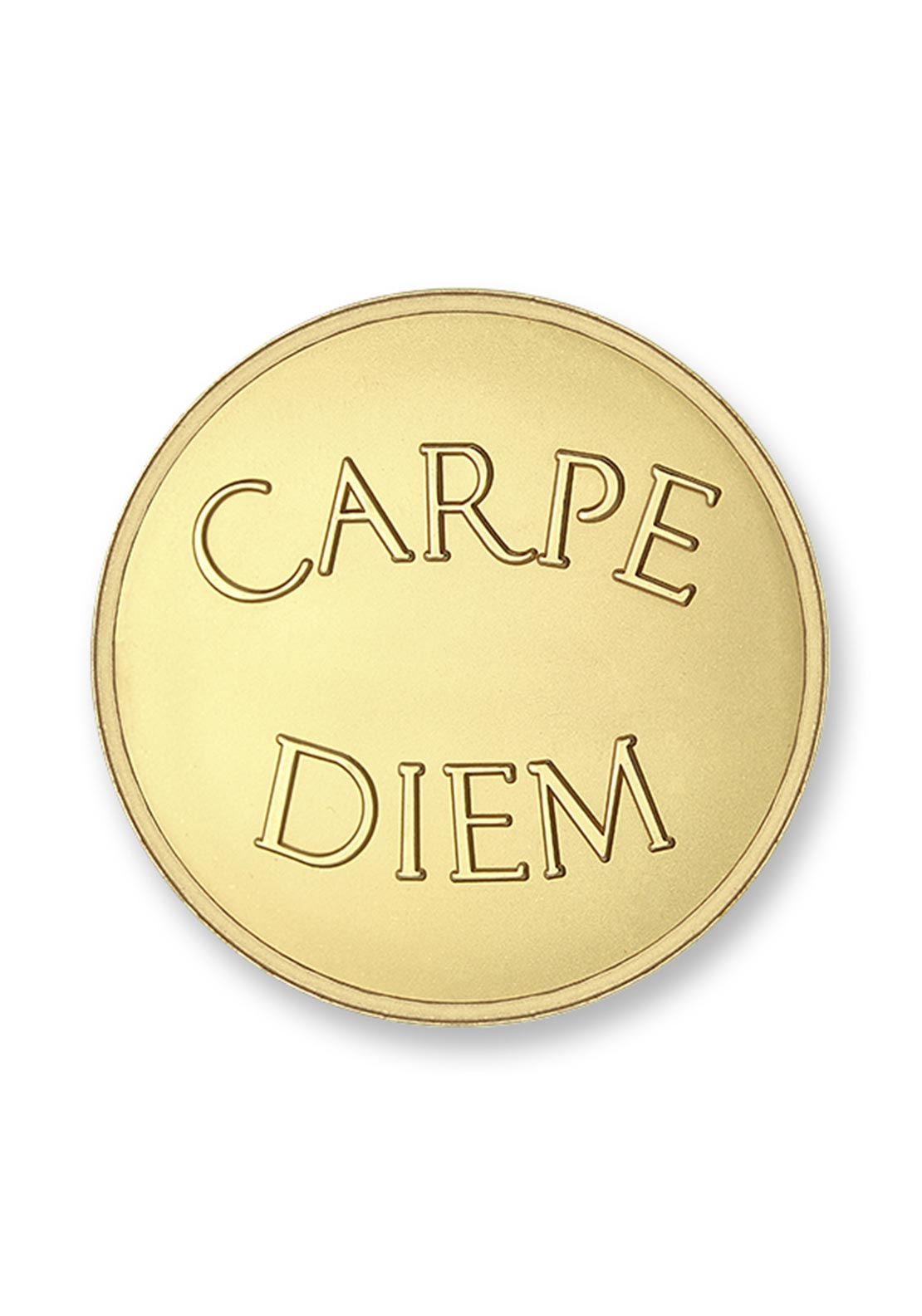 Mi Moneda Medium Carpe Diem Coin, Gold