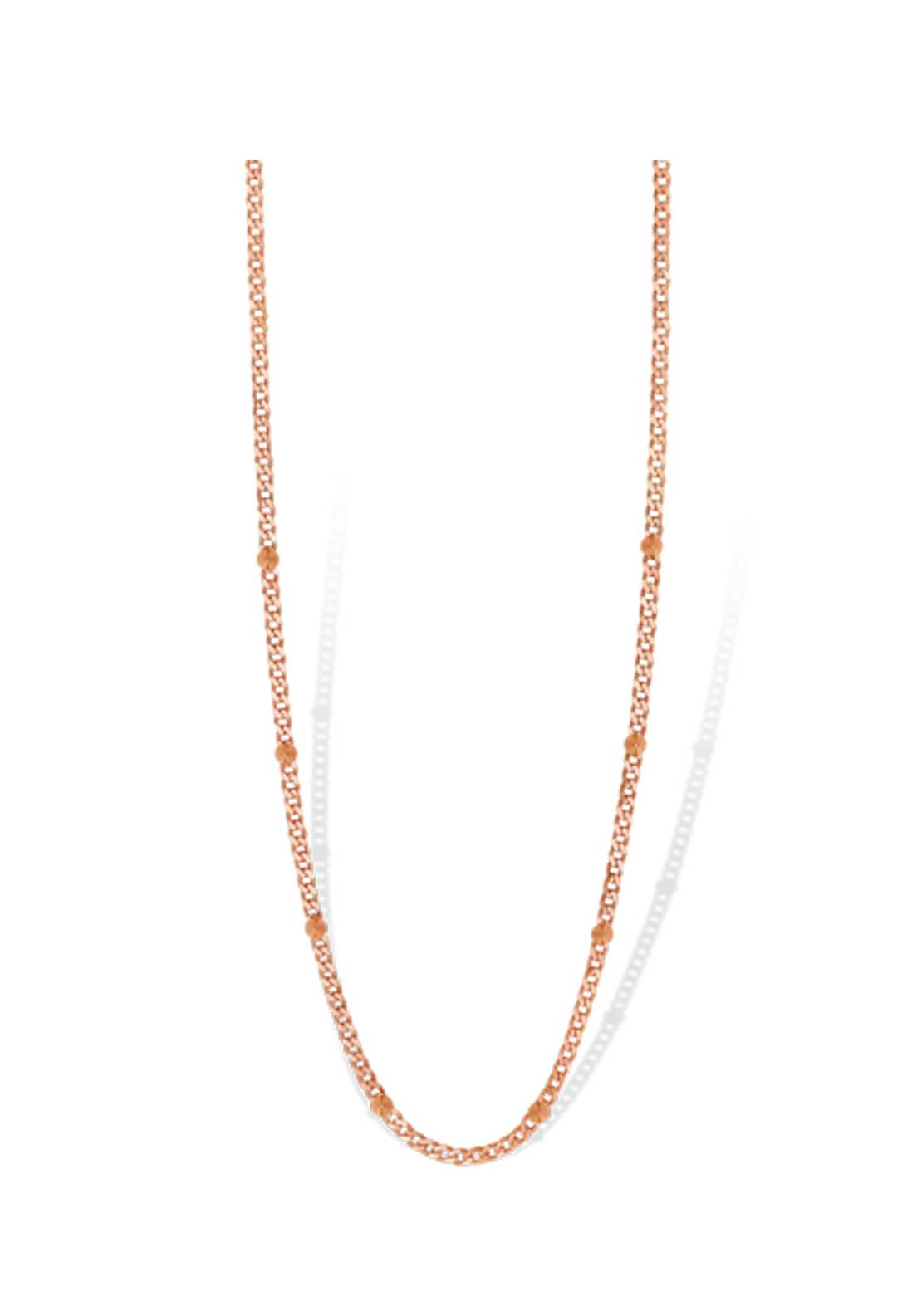 Mi Moneda Spike Necklace, Rose Gold