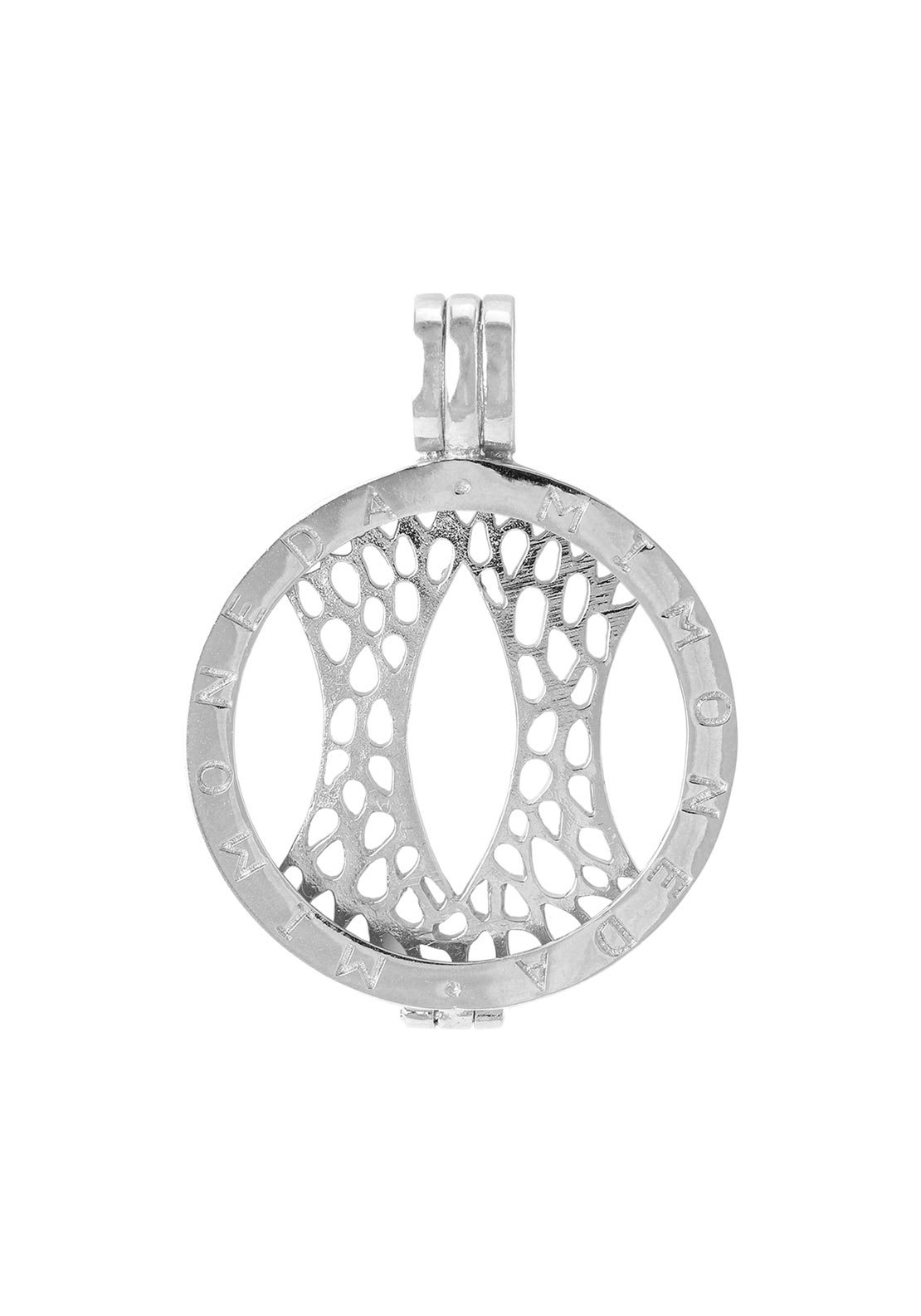 Mi Moneda Medium Pendant Holder, Silver