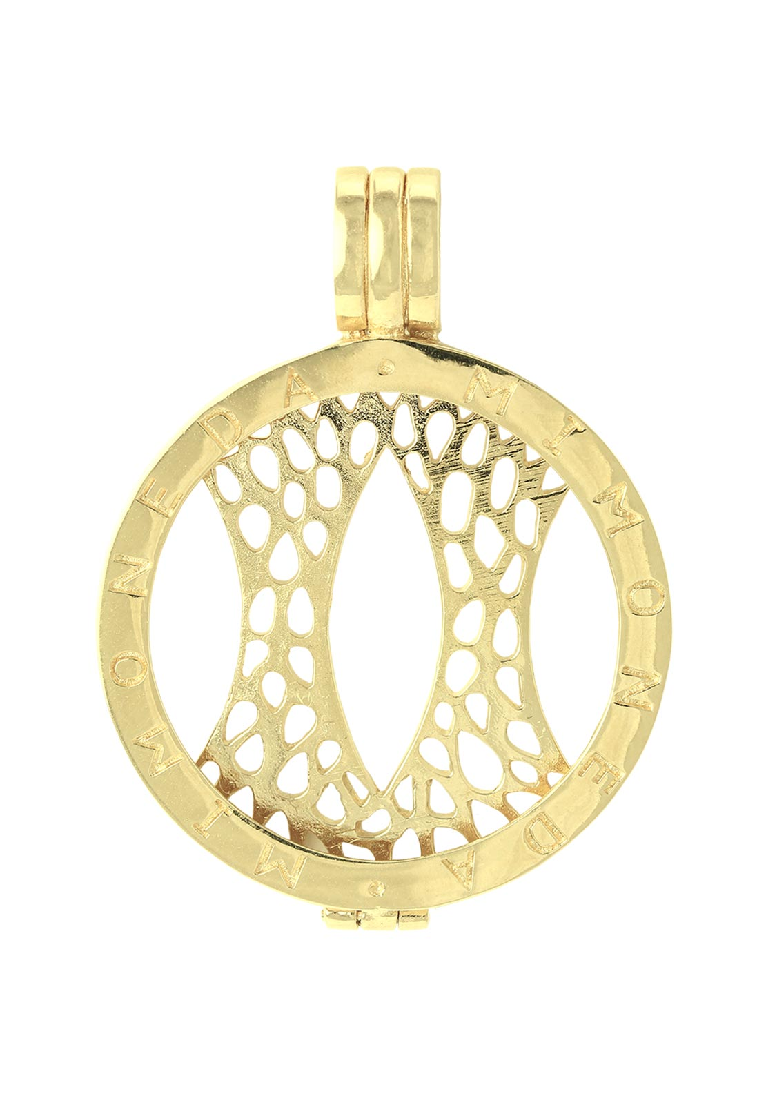 Mi Moneda Pendant Holder Large, Gold