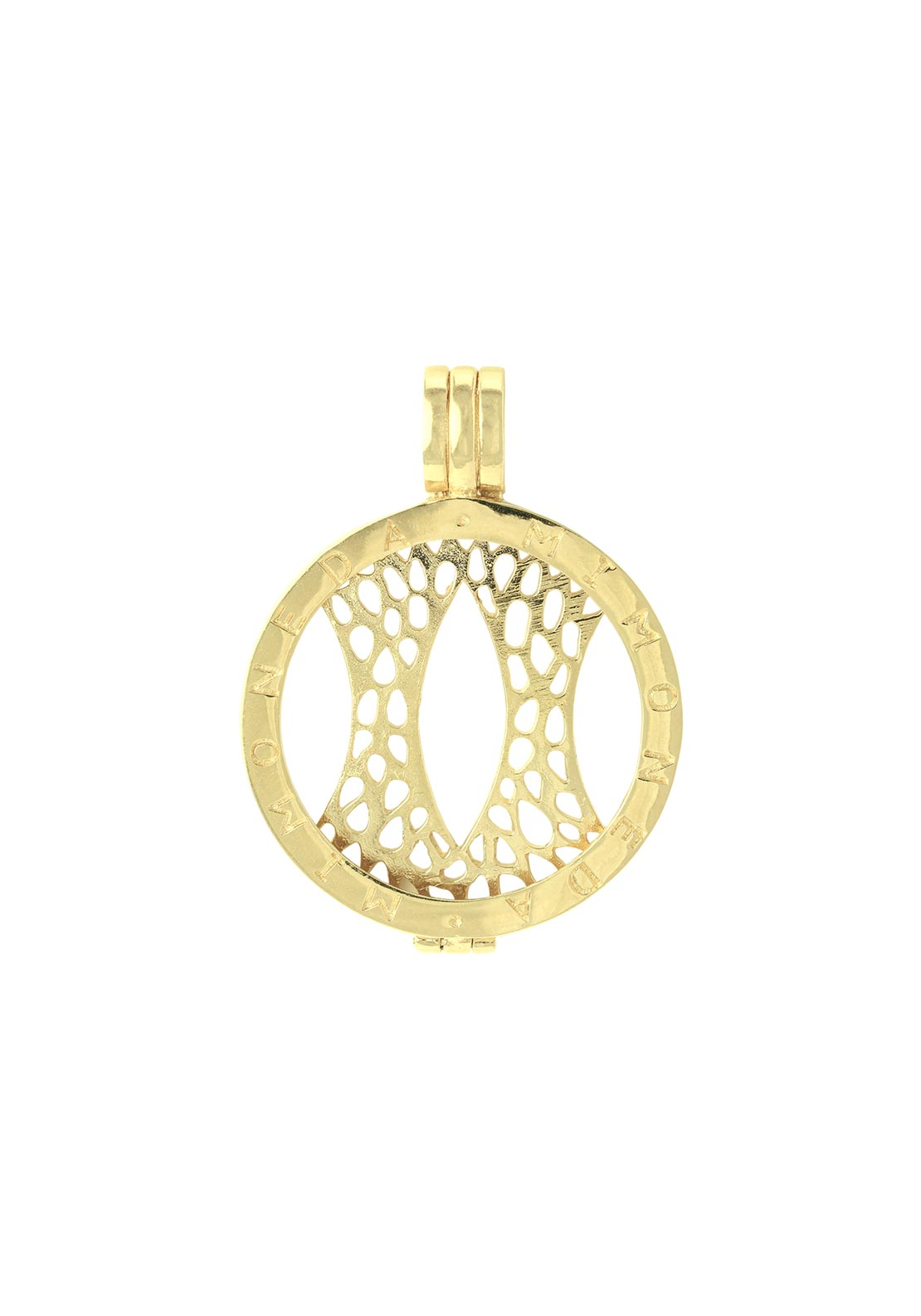 Mi Moneda Small Pendant Holder, Gold