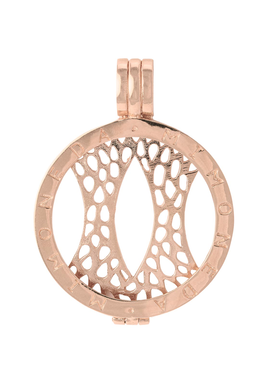 Mi Moneda Pendant Holder Large, Rose Gold