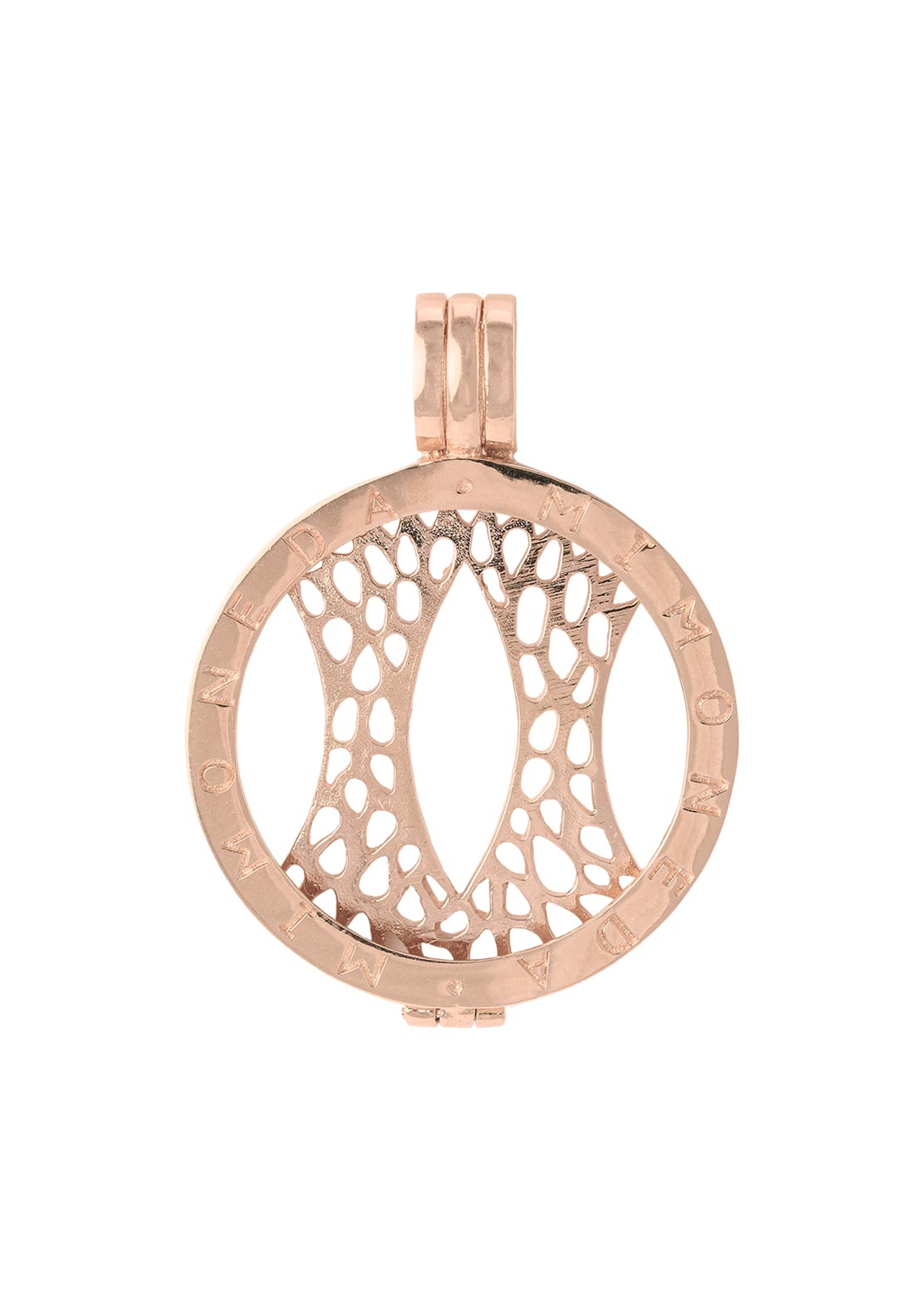 Mi Moneda Medium Pendant Holder, Rose Gold