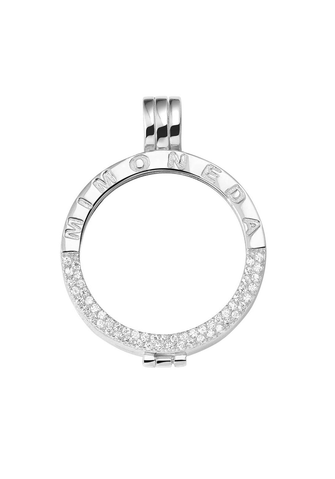 Mi Moneda Crystal Pendant Holder Large, Silver