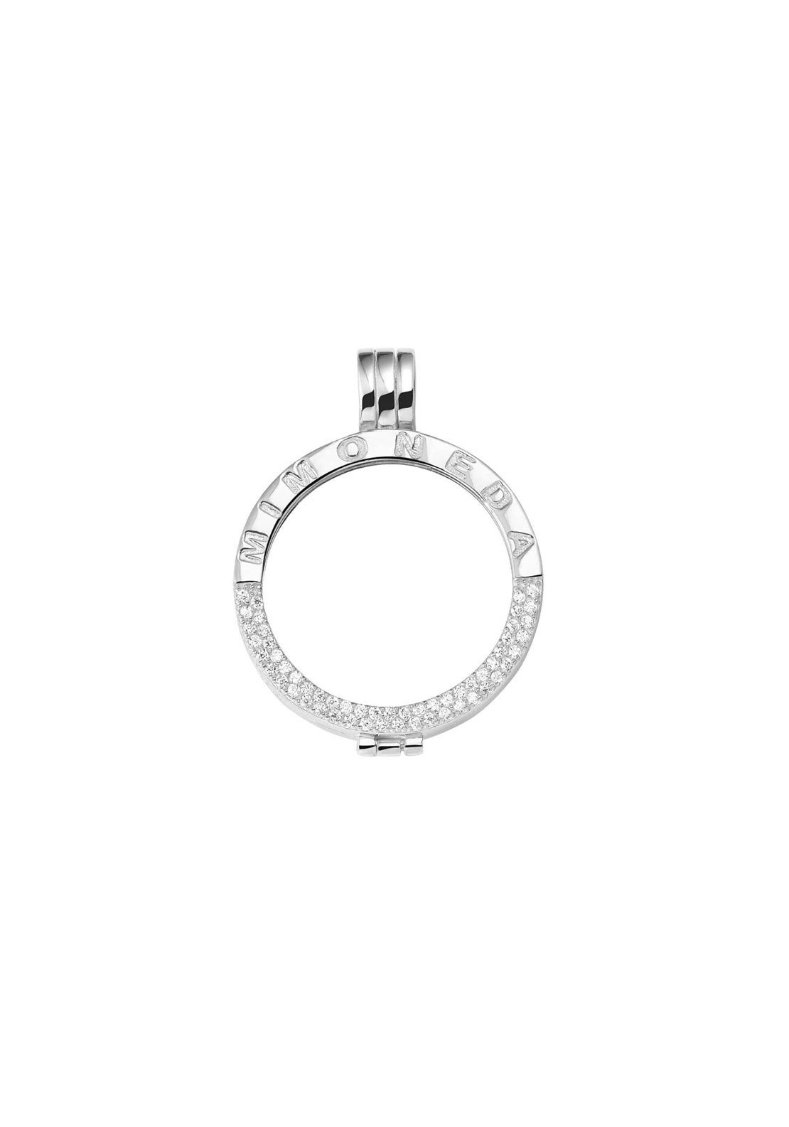Mi Moneda Small Crystal Pendant Holder, Silver