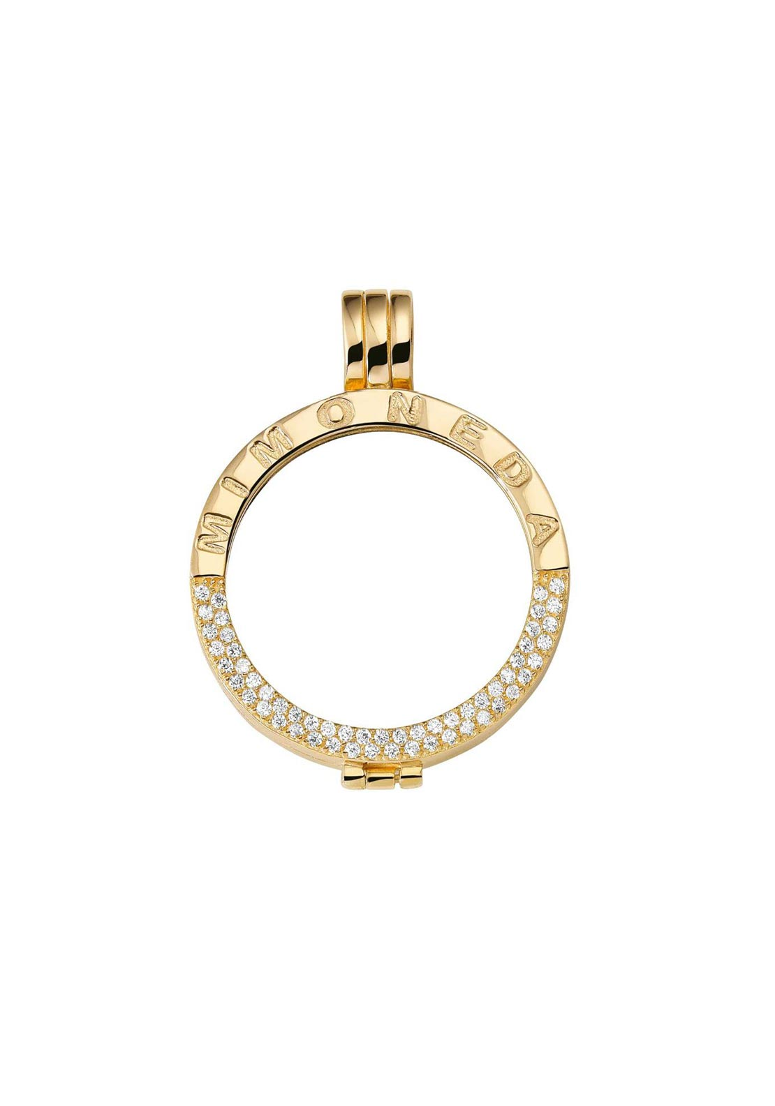 Mi Moneda Medium Crystal Pendant Holder, Gold
